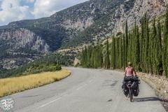 Die Berge hoch nach Delphi