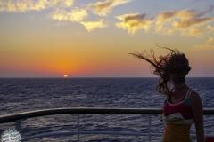 Ein Tag auf See geht zu Ende