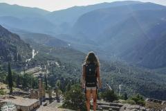 Hoch oben auf den Bergen von Delphi