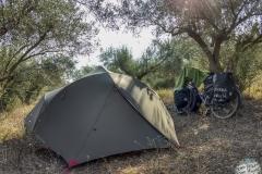 Unser Zeltlager im Olivenhain