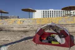 Unser Schlafplatz vor einem Resort