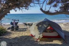 Unser Lager für viele Nächte auf Rhodos