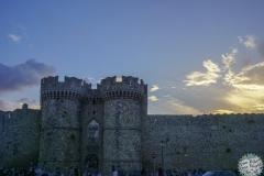 Die Stadtmauer von Rhodos