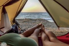 Wir entspannen am Strand