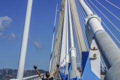 Auf der Rio Antirrio Bridge