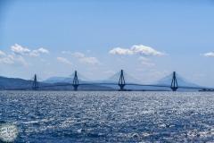 Rio Antirrio Brücke aus der Ferne