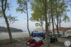 Ein weiterer idyllischer Strand mit vielen Mücken