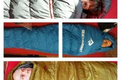 Wir, auf der Suche nach dem passenden Schlafsack.
