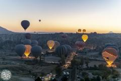 Alle Ballons straten nur im Morgengrauen
